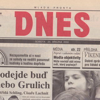 Dnes 25 March 2000
