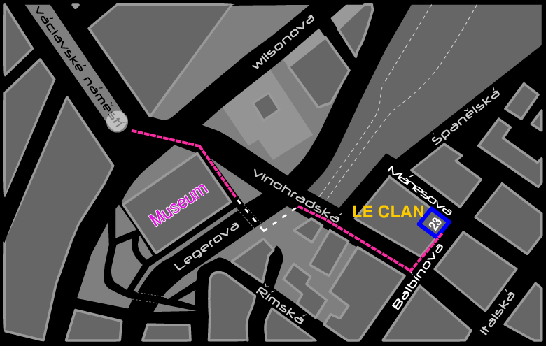 Map Le clan Prague